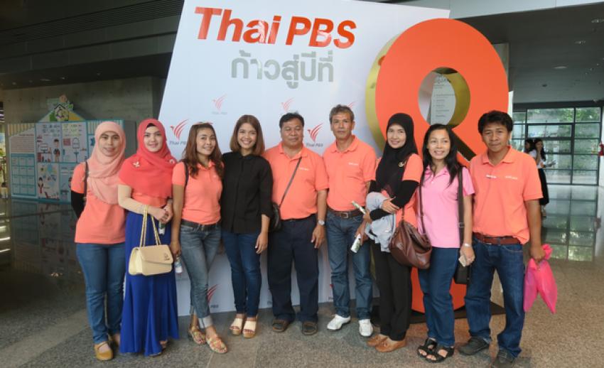 โรงเรียนบ่อมะม่วง เยี่ยมชมสถานีโทรทัศน์ไทยพีบีเอส