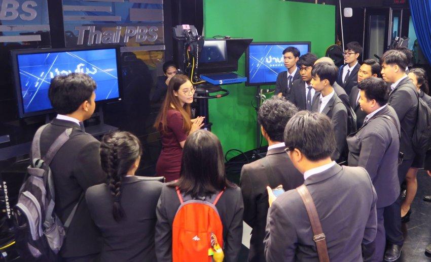 ไทยพีบีเอส ต้อนรับคณะเยี่ยมชมจากวิทยาลัยเทคโนโลยีไทยบริหารธุรกิจ