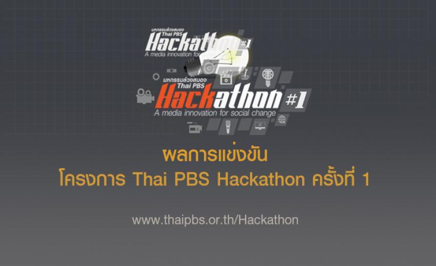 ผลการแข่งขันโครงการ Thai PBS Hackathon ครั้งที่ 1